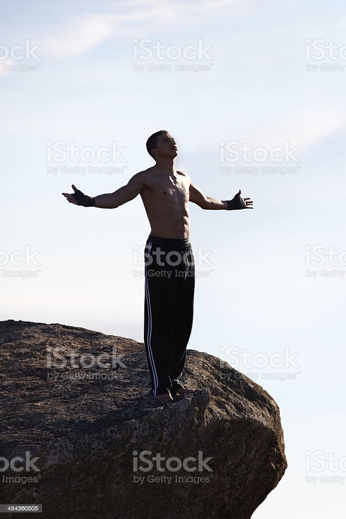 Freedom in the mountains royalty-free stock photo