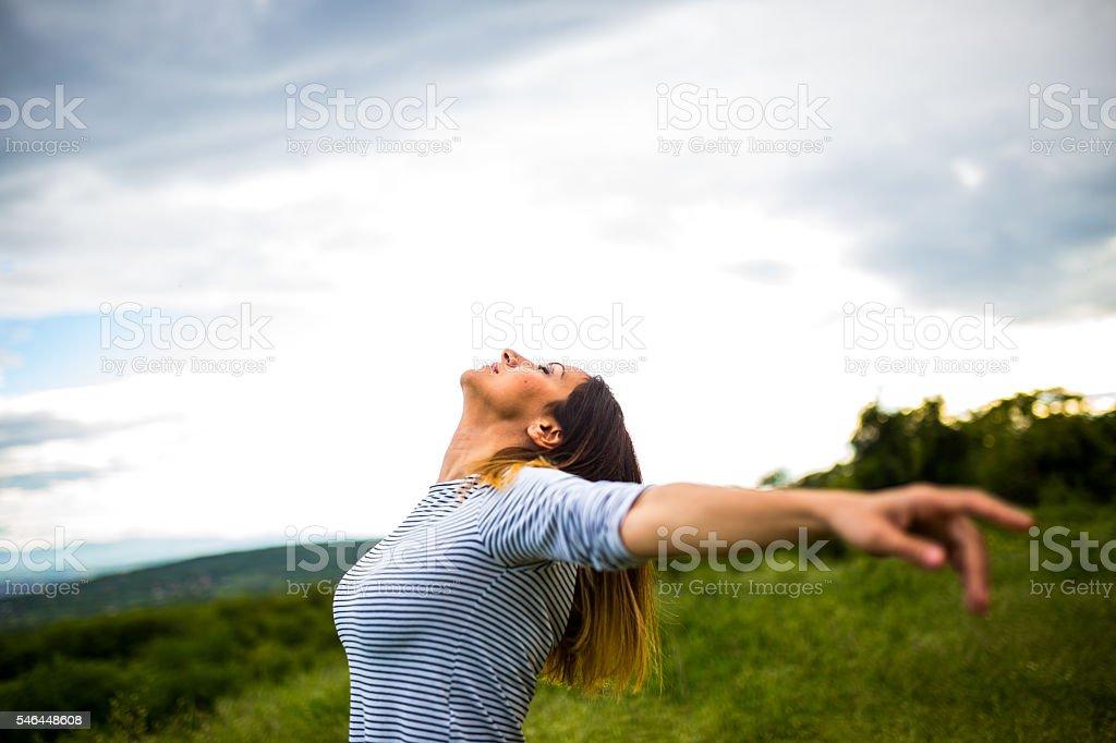Freedom is wonderful stock photo