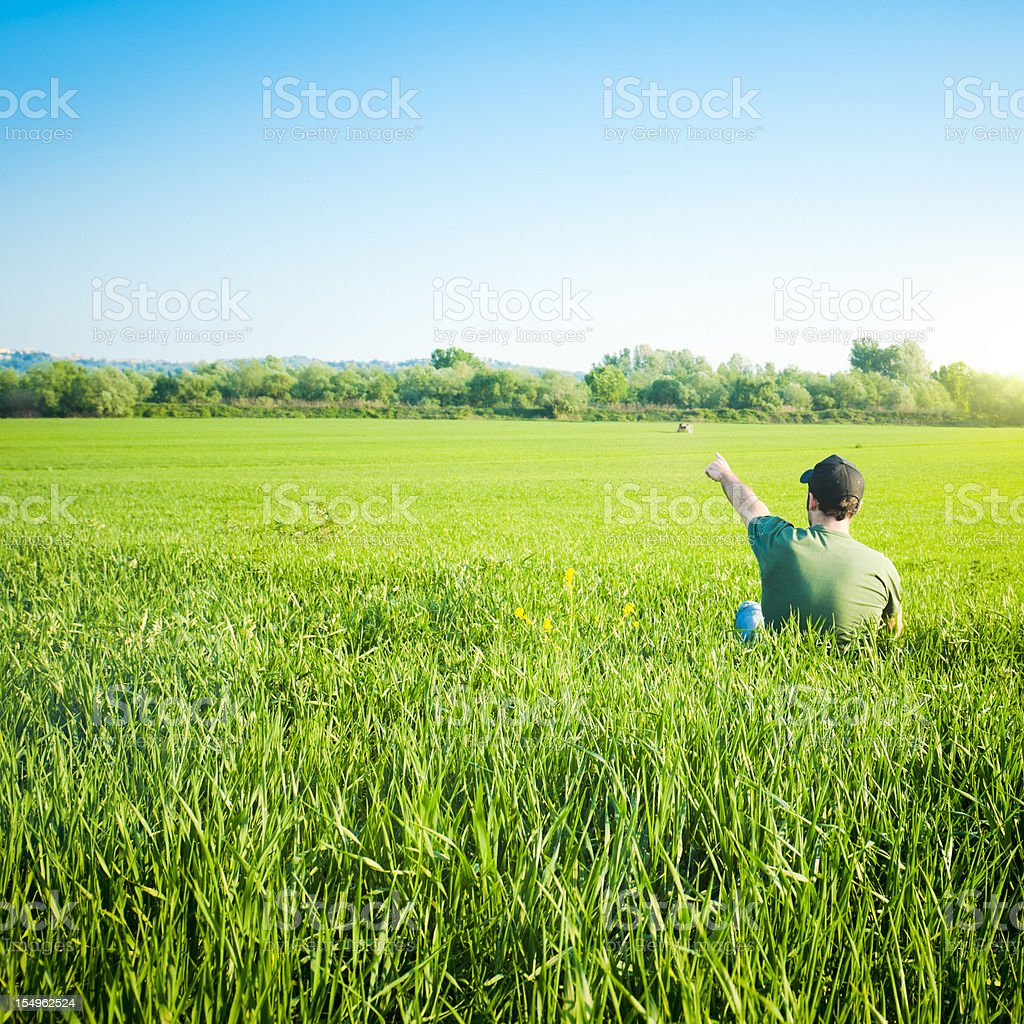 Freedom Man exploring the world royalty-free stock photo