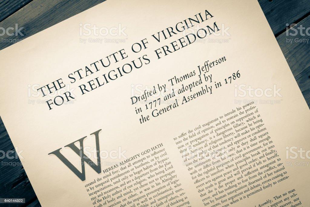 Freedom of Religion in America stock photo