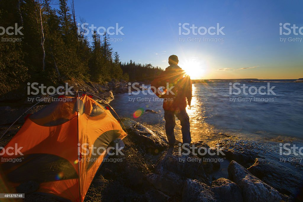 Freedom of the Outdoors stock photo