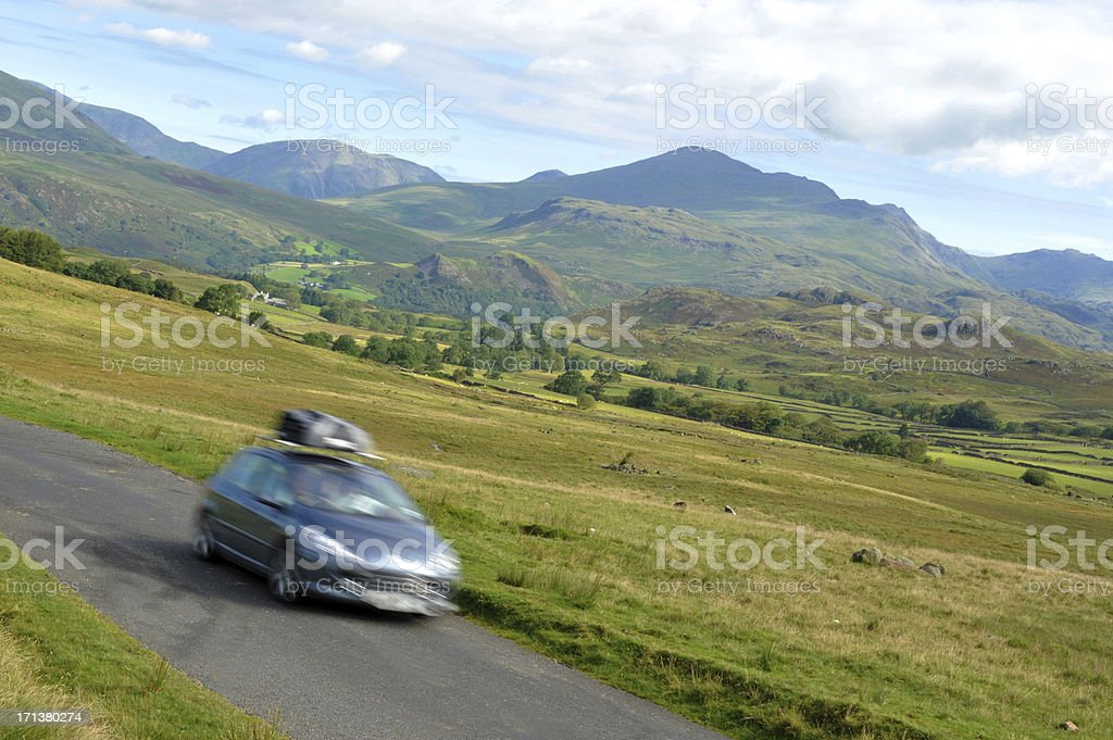 Freedom On The Open Road royalty-free stock photo