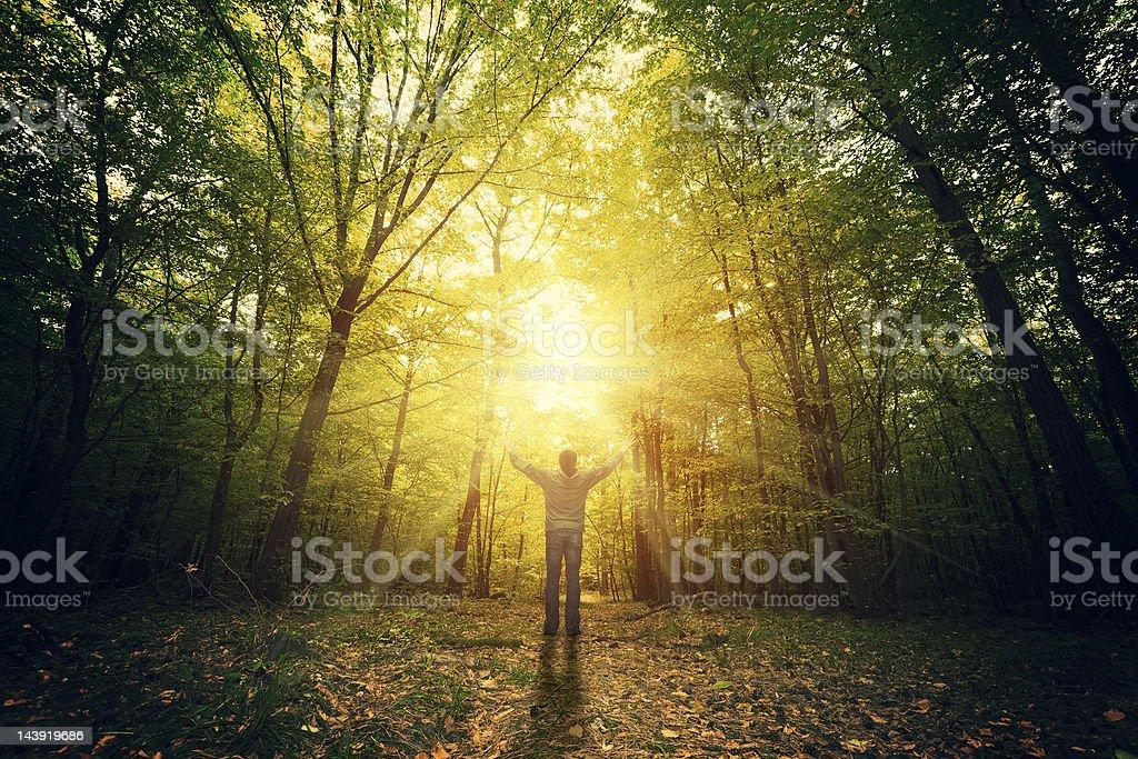 Freedom & pray stock photo