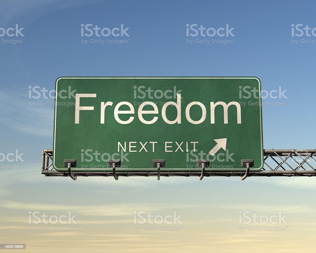 自由の道路標識 ロイヤリティフリーストックフォト