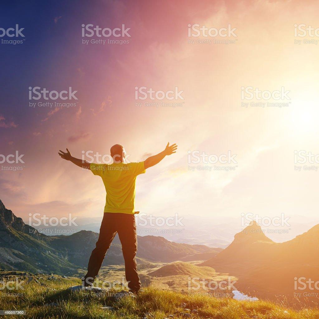 Freedom. Spirituality concept. stock photo