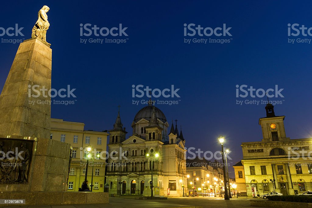 Freedom Square in Lodz, Poland stock photo