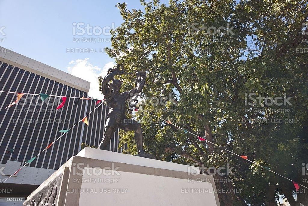 Freedom Statue Lusaka stock photo