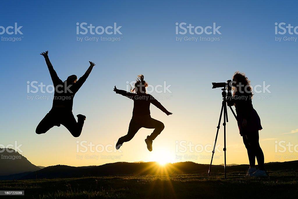 freedom sunset shoot royalty-free stock photo