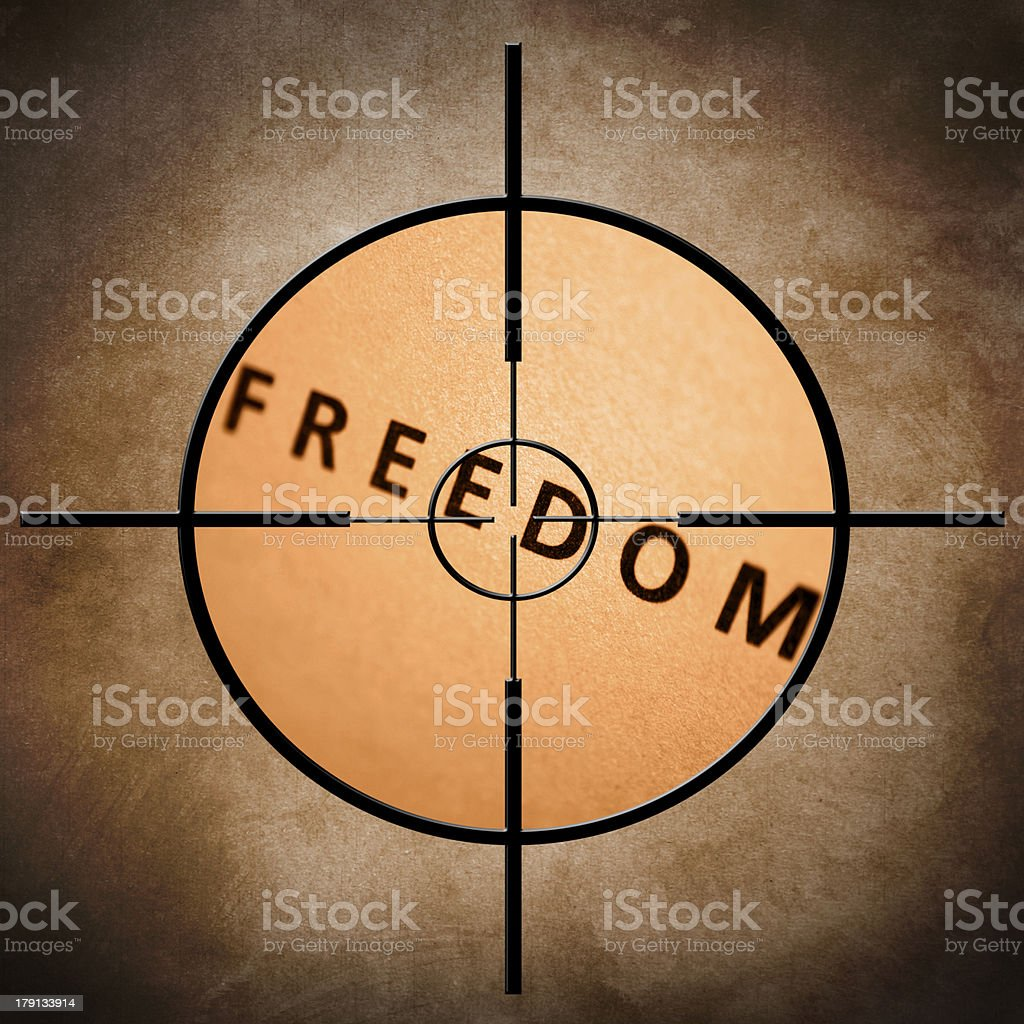 Freedom target royalty-free stock photo