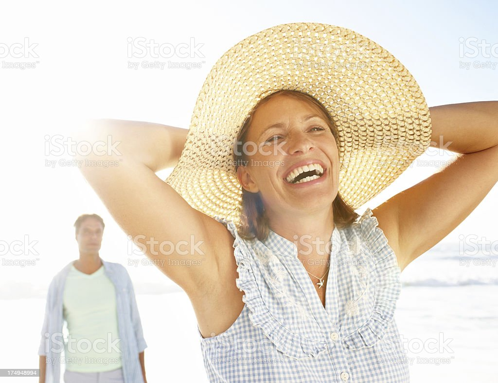 Freedom to be herself royalty-free stock photo