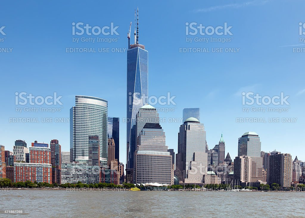 NYC Freedom Tower and the World Financial Center royalty-free stock photo