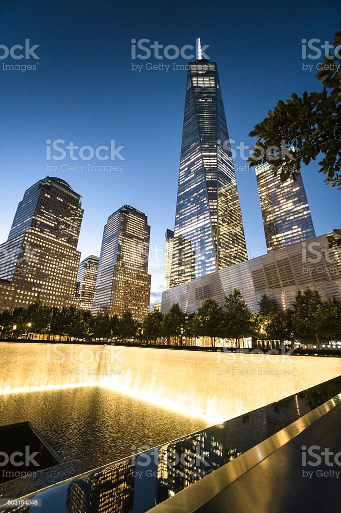 freedom tower at the new world trade center stock photo