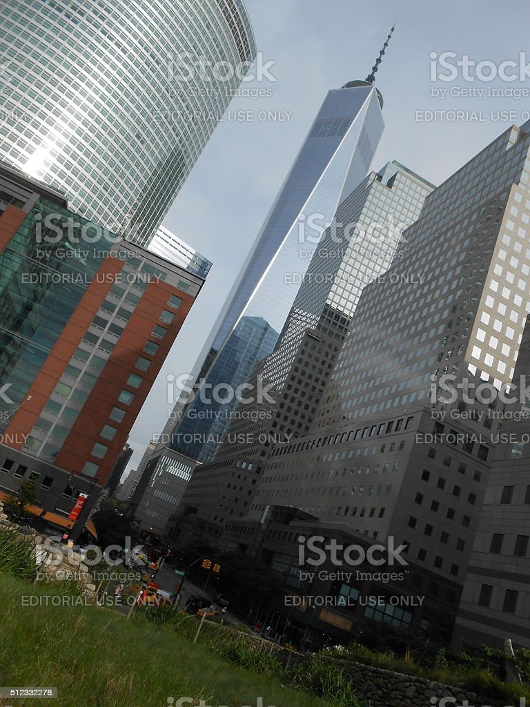 Freedom Tower, Goldman Sachs Headquarters, and World Financial Center. stock photo