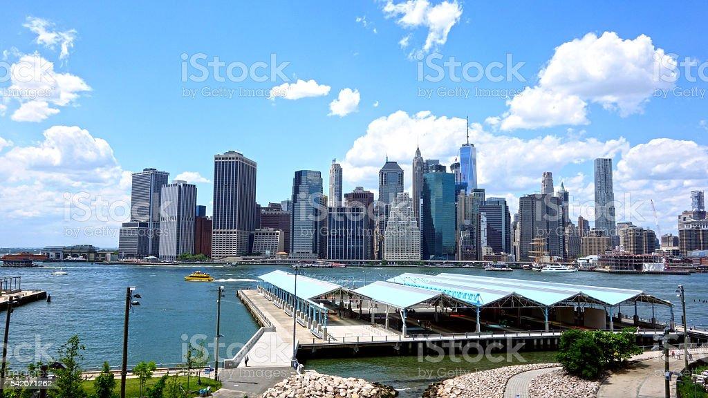 Freedom Tower & Lower Manhattan View stock photo