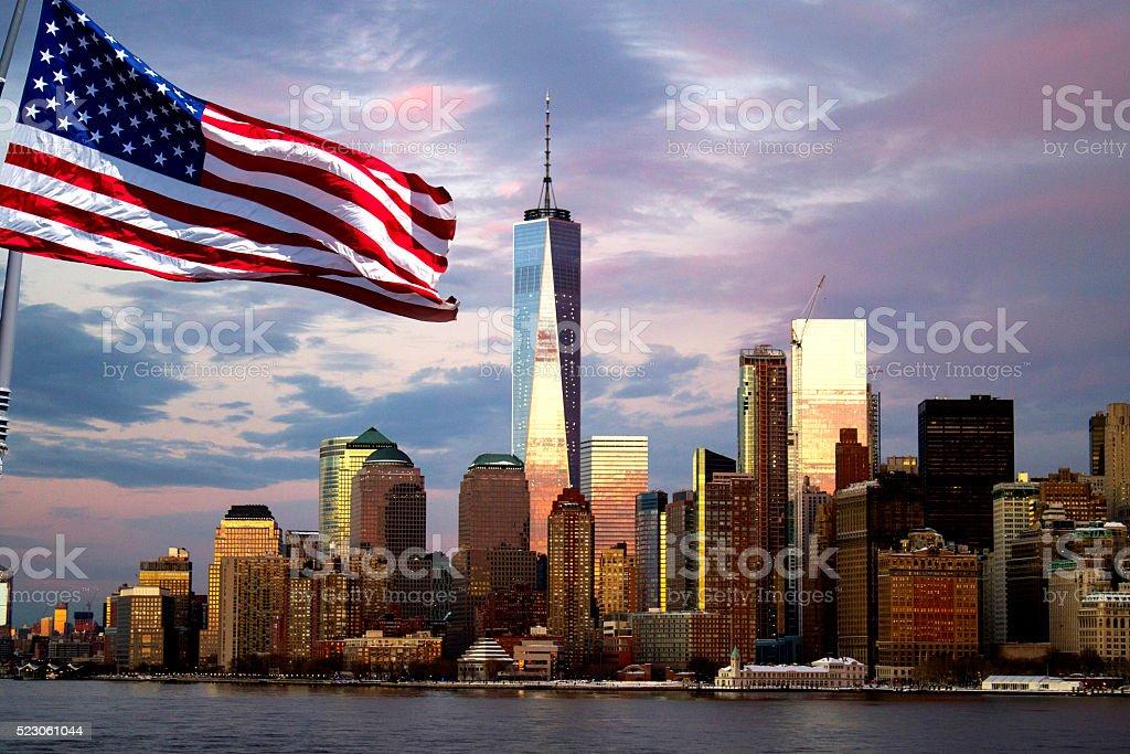 Freedom Tower, Manhattan, New York stock photo