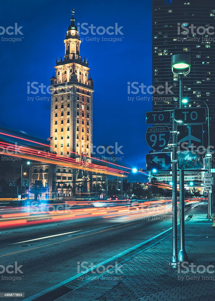 Freedom Tower Miami stock photo