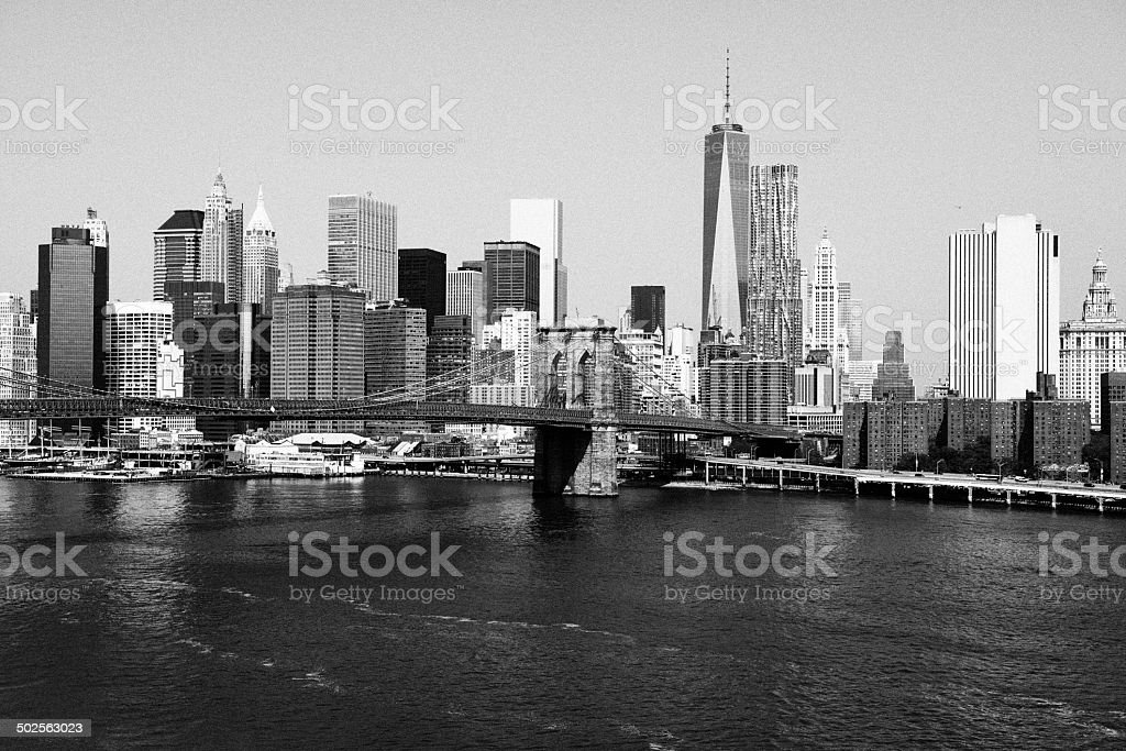 Freedom Tower,Downtown NY.Black And White royalty-free stock photo