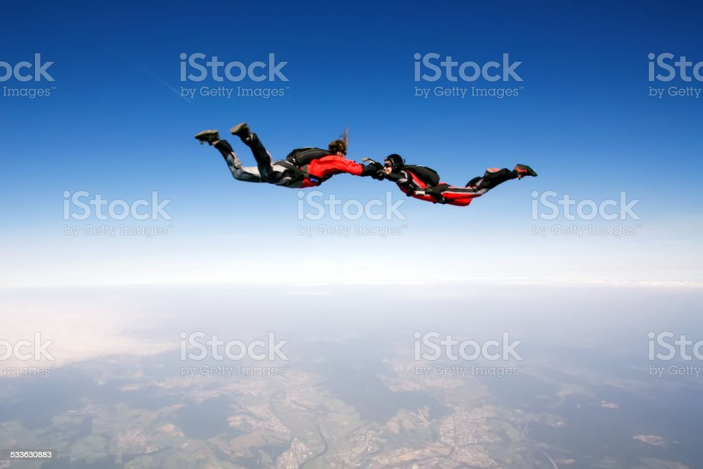 Freefall stock photo