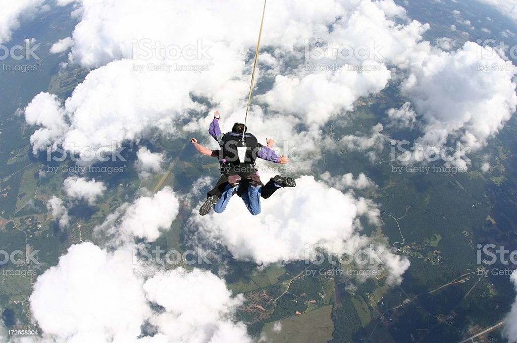 Freefall - Tandem Skydive stock photo