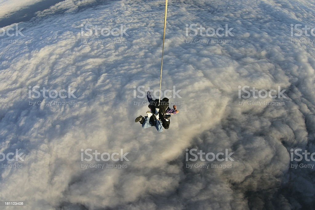 Freefall - Tandem Skydive royalty-free stock photo