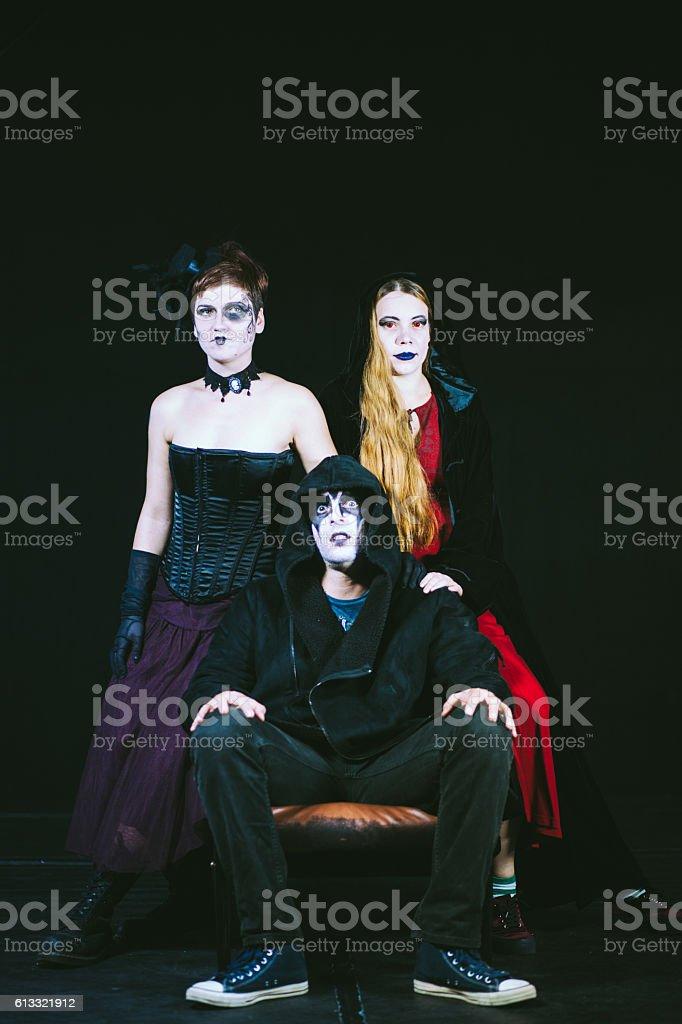 Freeky Vampire Family stock photo