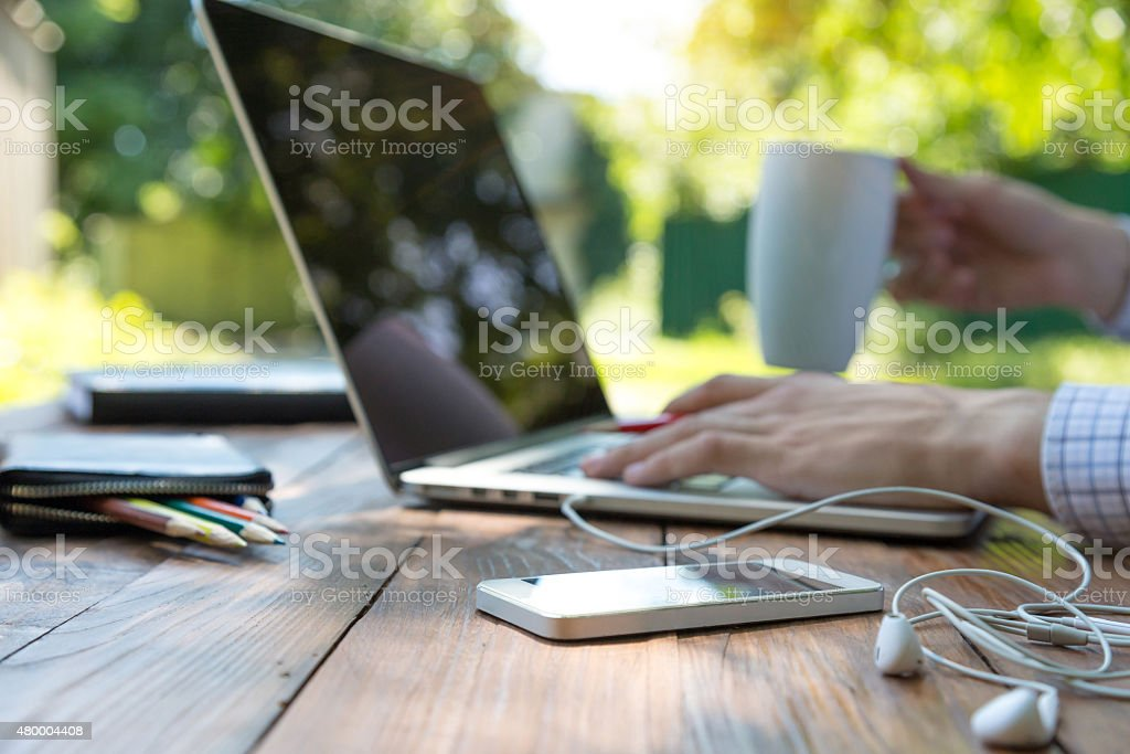 Freelance work stock photo