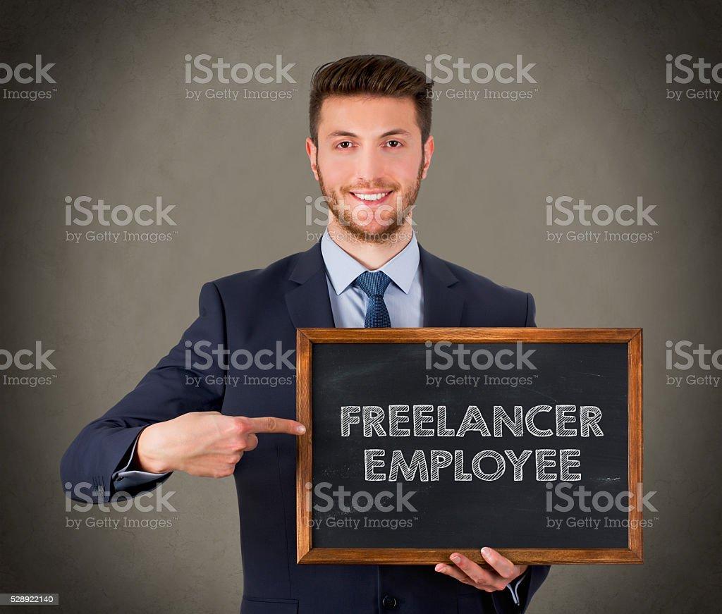 Freelancer Employee stock photo