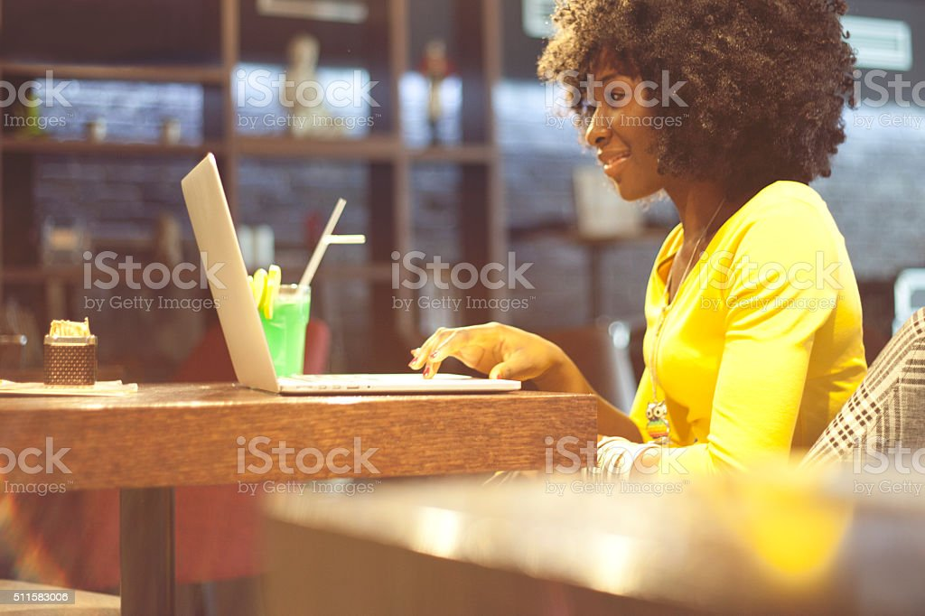 Freelancer working stock photo