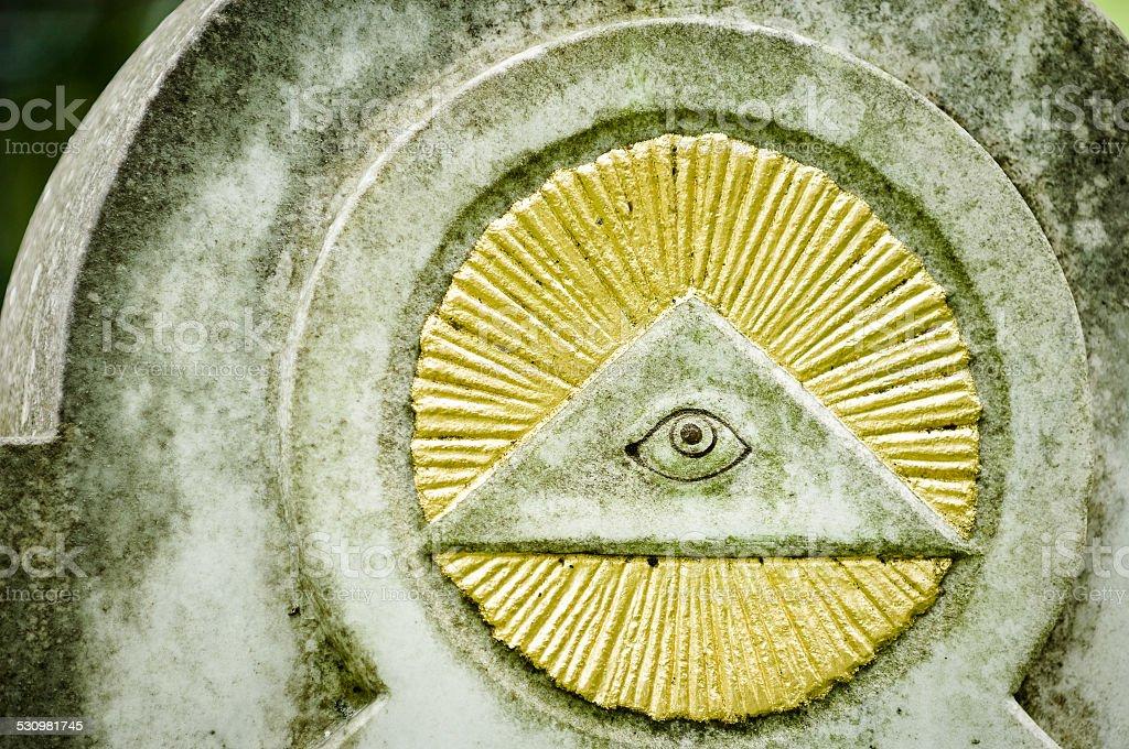 freemason symbol stock photo