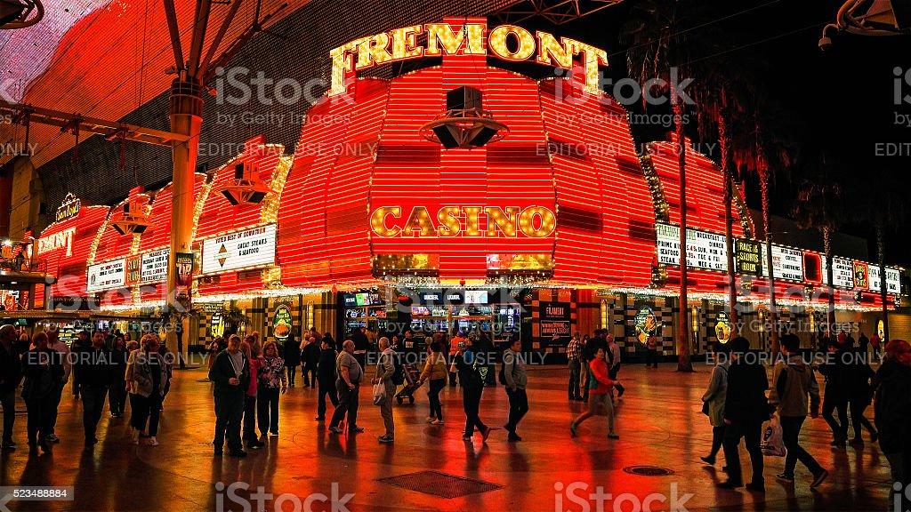 Freemont Street Experience in Las Vegas stock photo