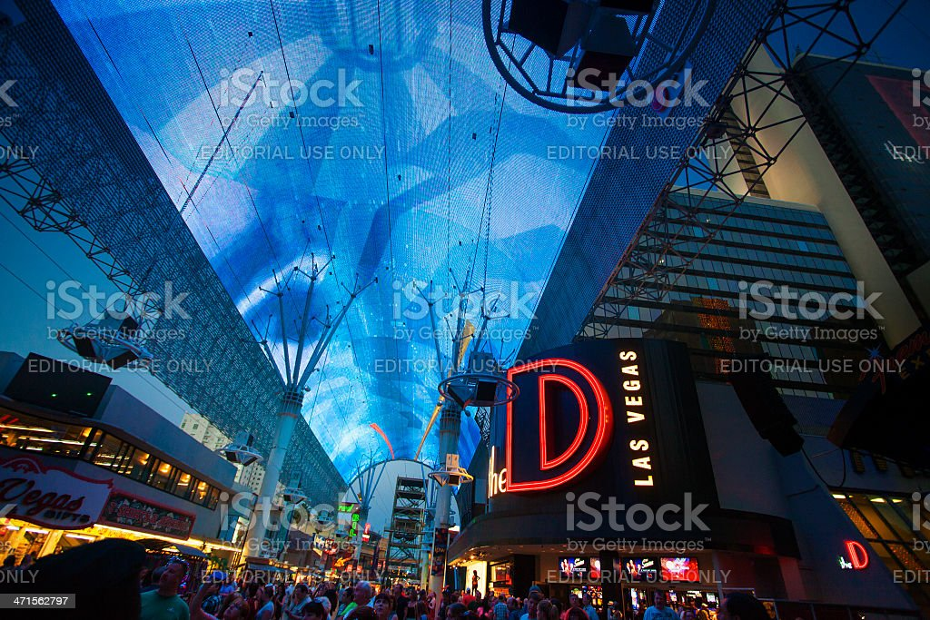 Freemont Street - Las Vegas royalty-free stock photo