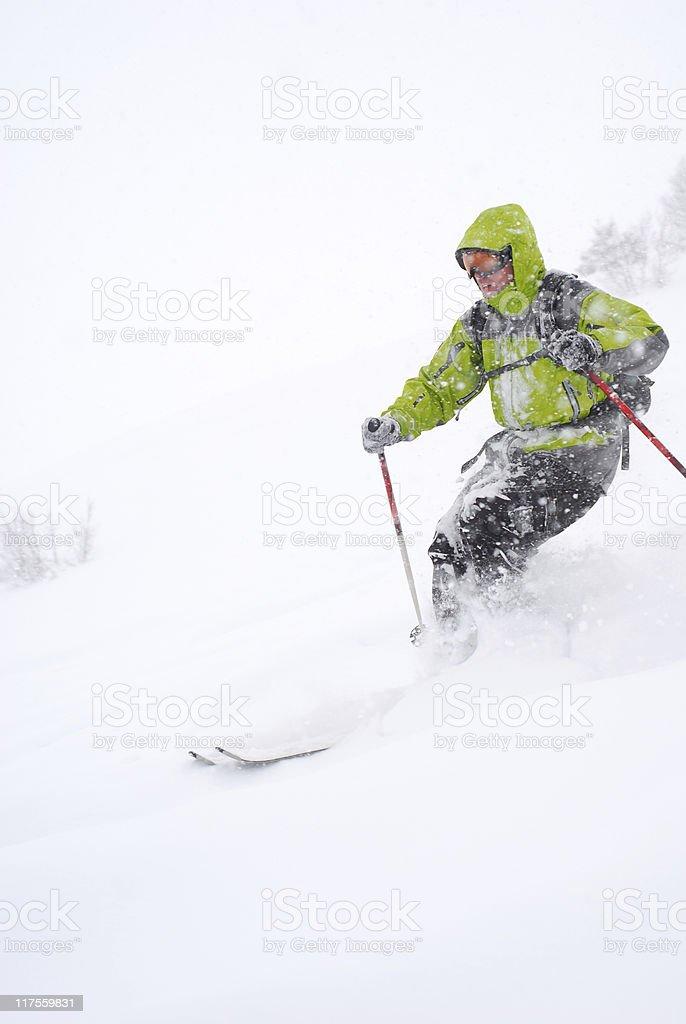 Freeride skiier royalty-free stock photo