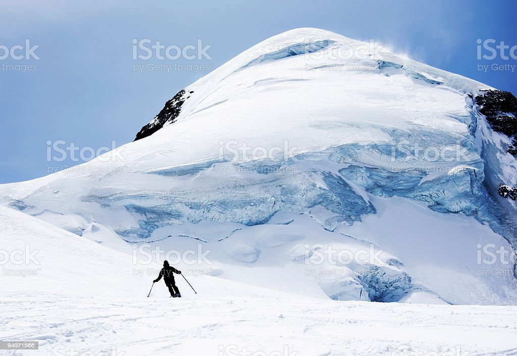 Freeride skier stock photo