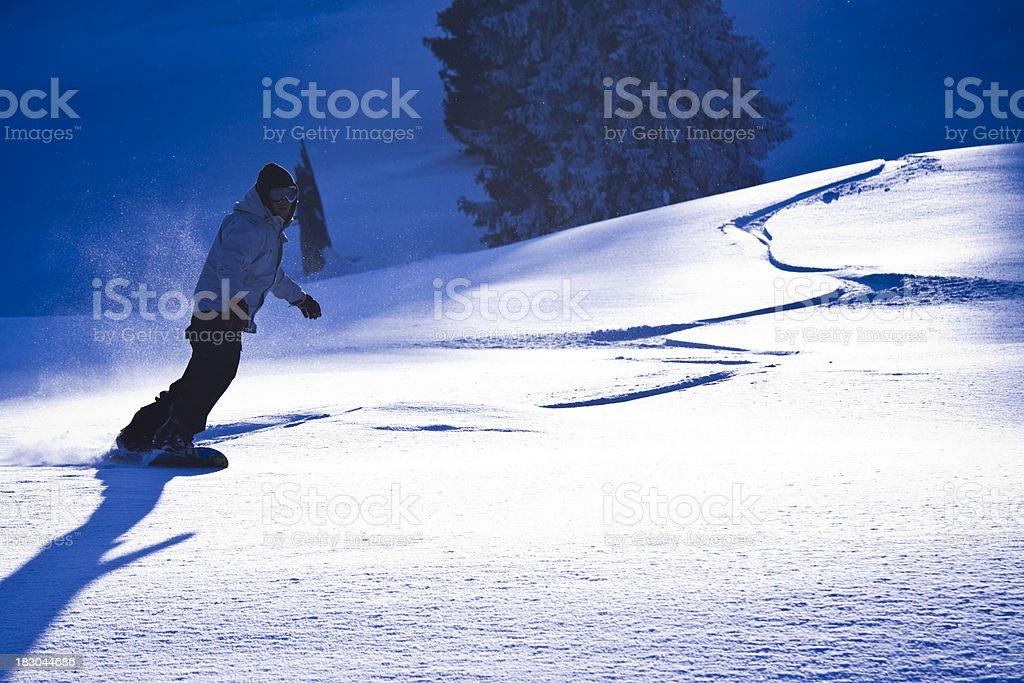 freeride snowboarding stock photo