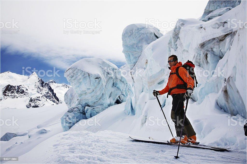 Freerider Skier royalty-free stock photo