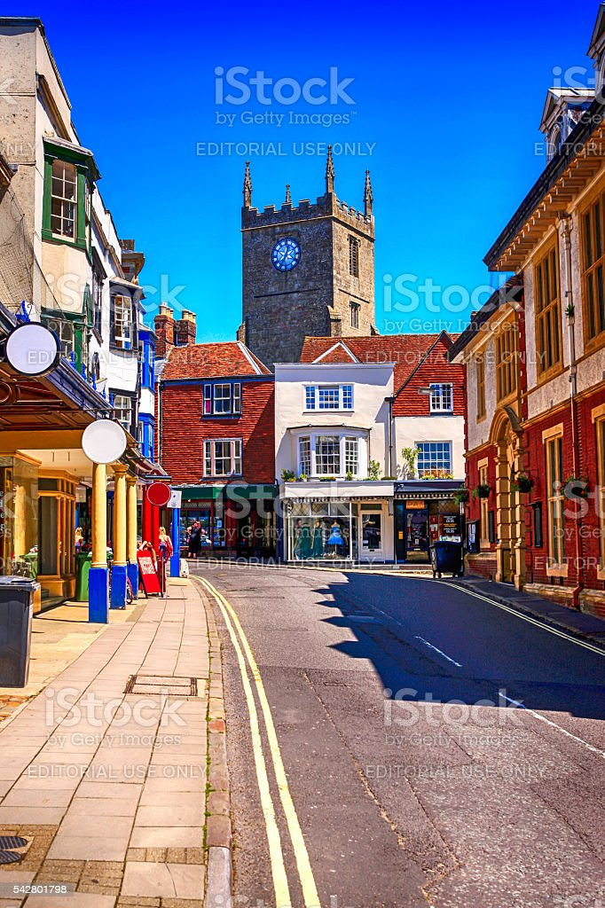 Free's Ave in Marlborough, UK stock photo