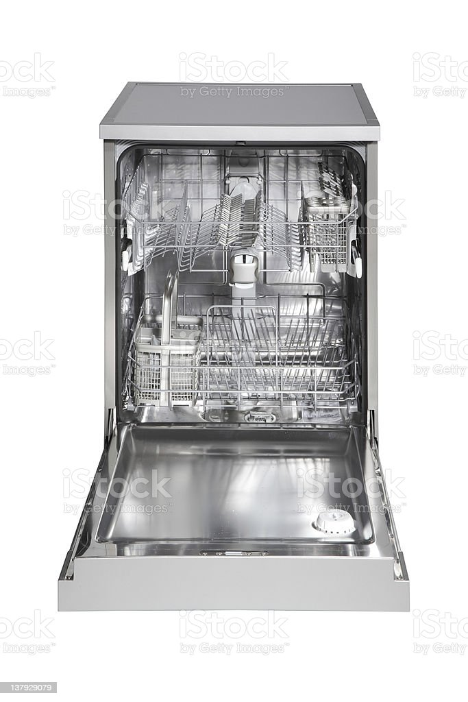 Freestanding INOX dishwasher royalty-free stock photo