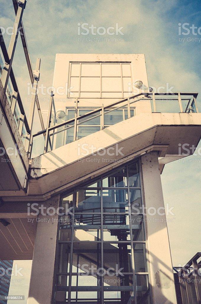Freestanding lift near Frankfurt Fairground royalty-free stock photo
