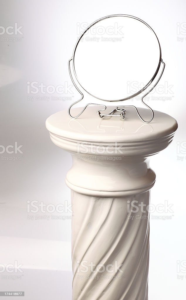 free-standing mirror - Single greek column royalty-free stock photo