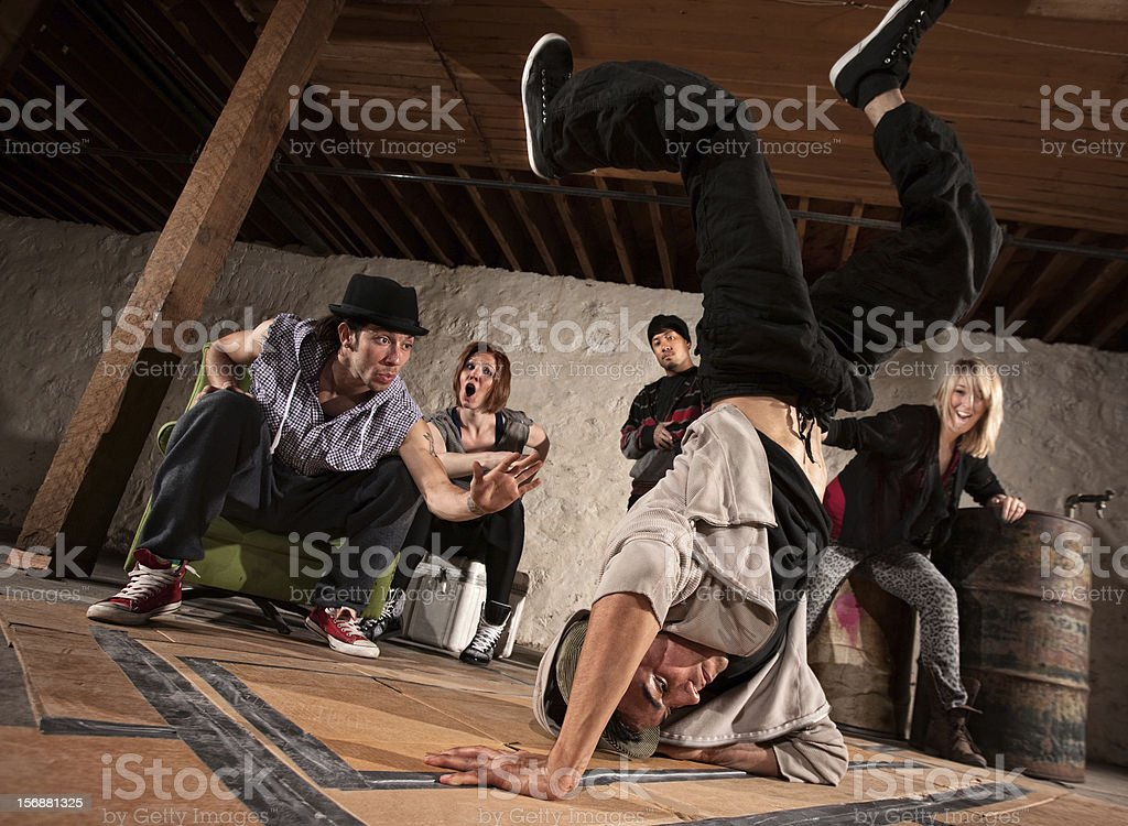 Freestyle Break Dancing royalty-free stock photo