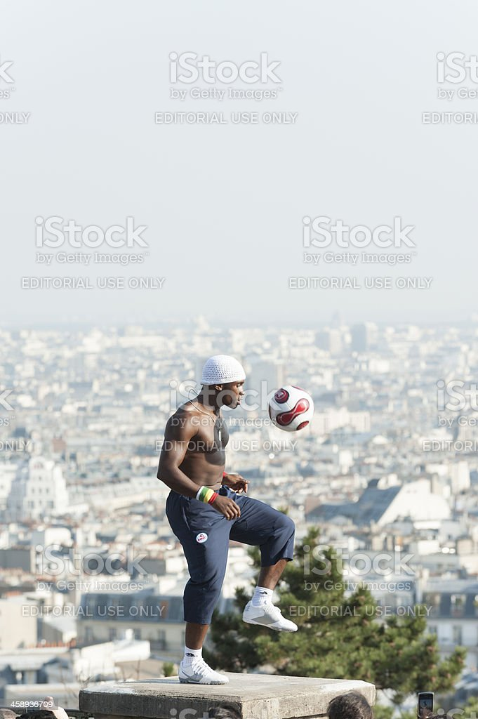 Freestyle Footballer Iya Traore royalty-free stock photo