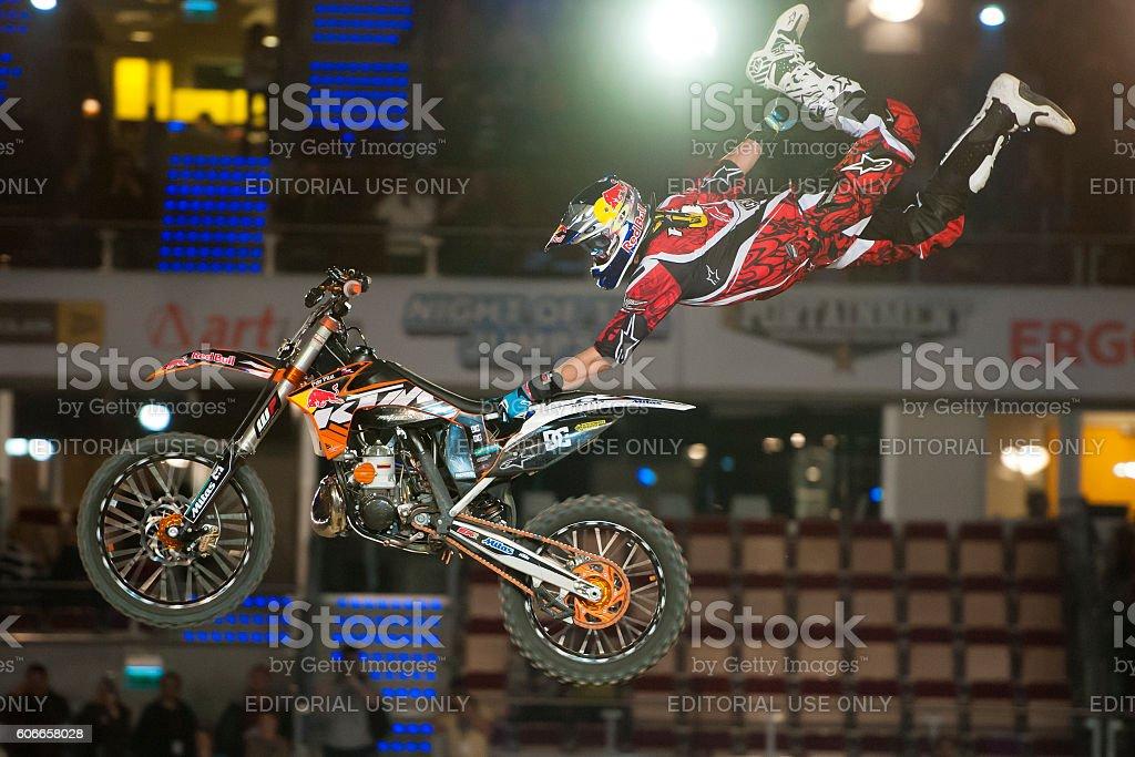 Freestyle Motocross FMX Trick stock photo