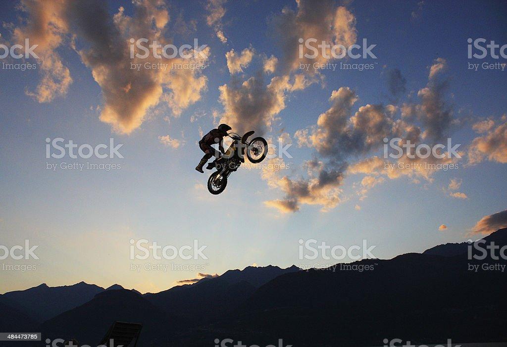 freestyle motocross stock photo