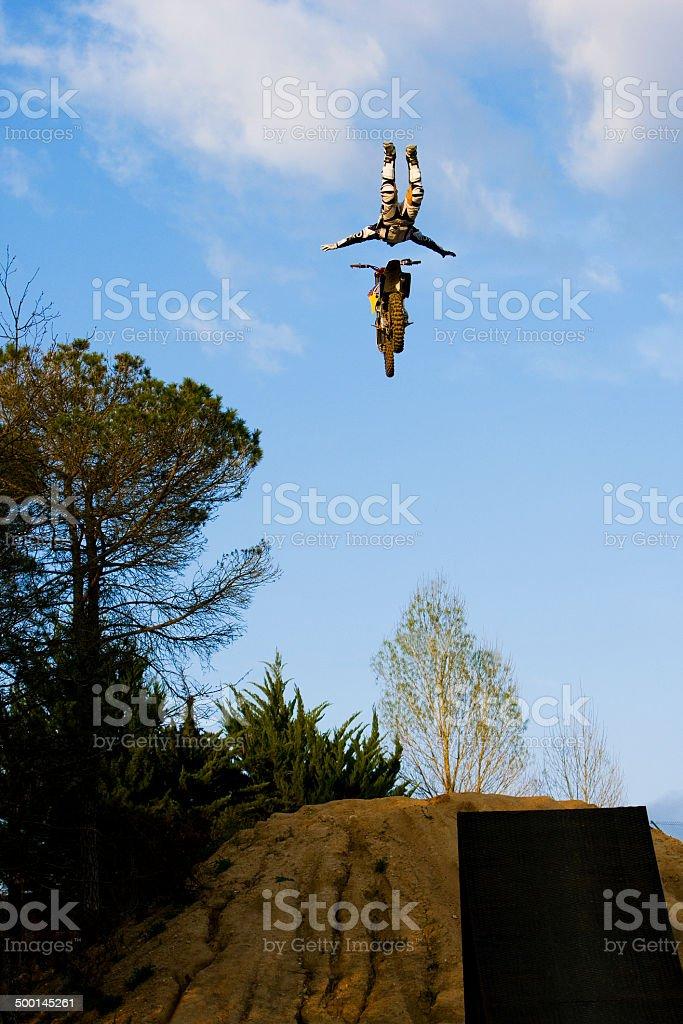 Freestyle Motocross Rider stock photo
