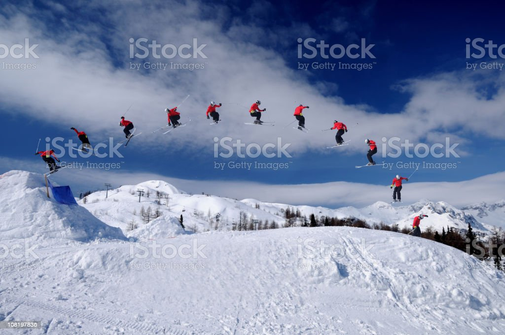 Freestyle skier stock photo