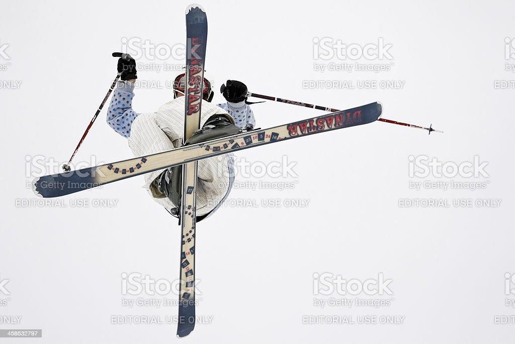 Freestyle skier royalty-free stock photo