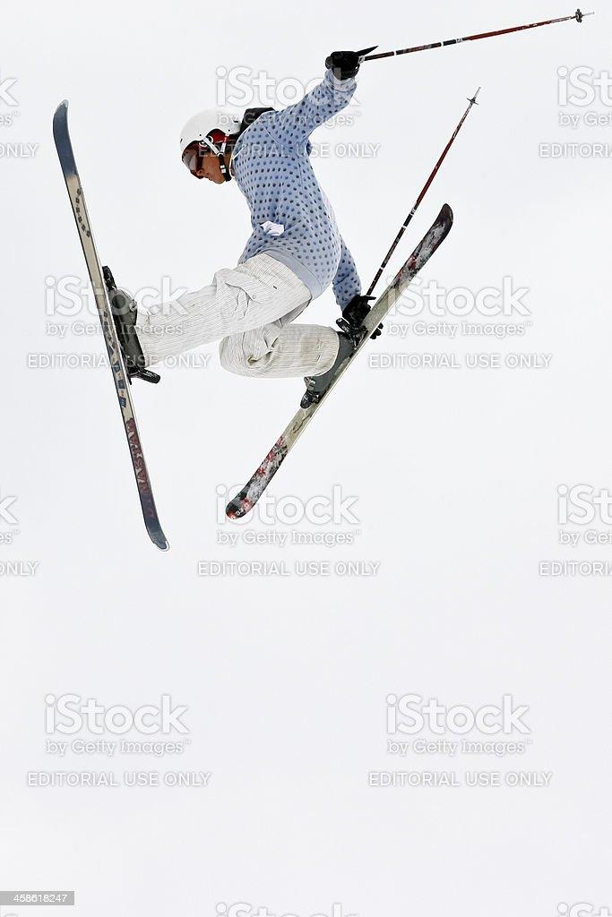 Freestyle skier stock photo