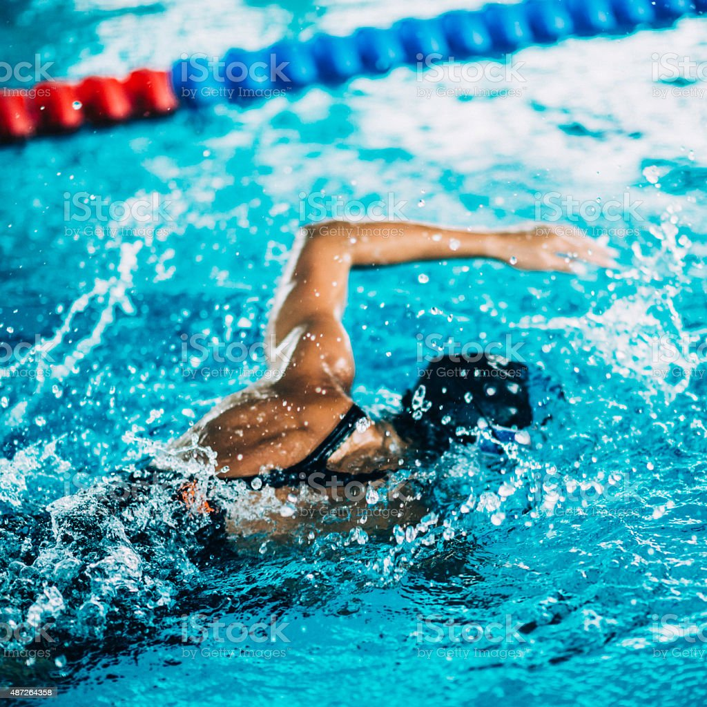 Freestyle Swimming stock photo