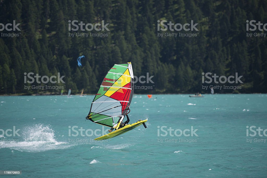 freestyle windsurfer stock photo