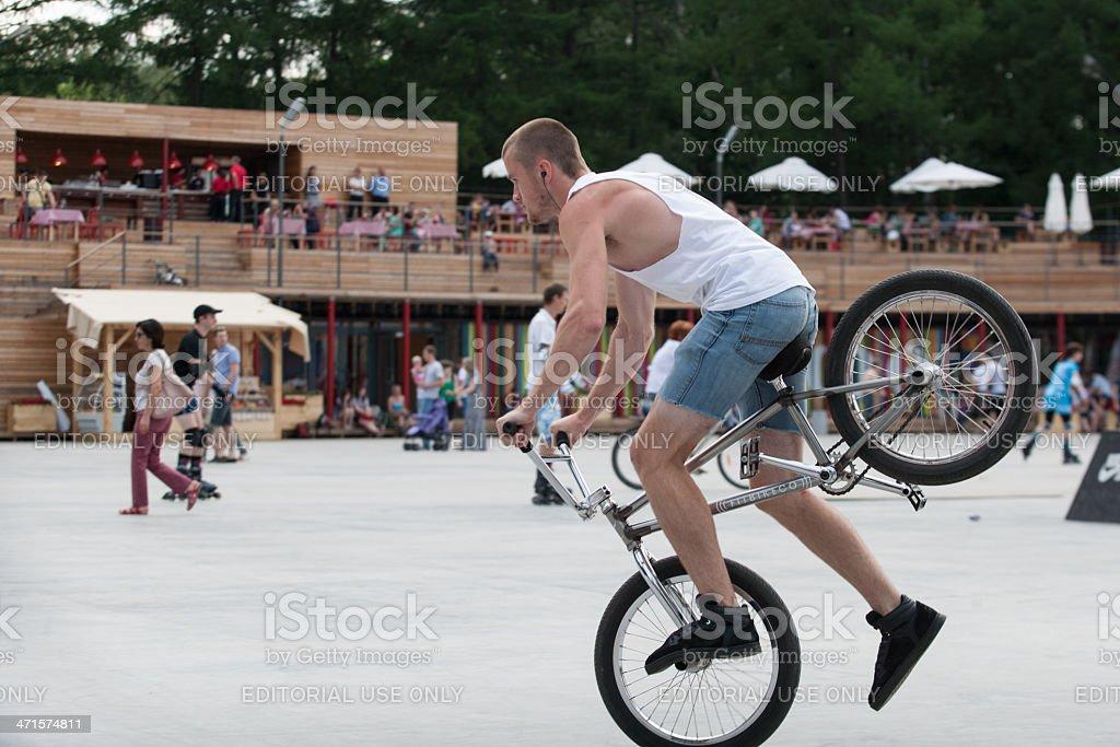 BMX Freestyleer royalty-free stock photo